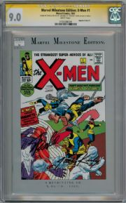Marvel Milestone Edition X-Men #1 CGC 9.0 Signature Series Signed Stan Lee Jack Kirby Marvel comic